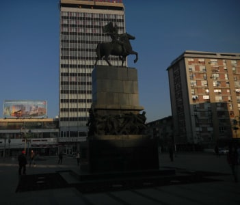 Monument to the Liberators Niša- Square of King Milan