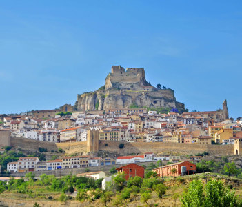 A Panoramic View of Morella in Valencia, Spain