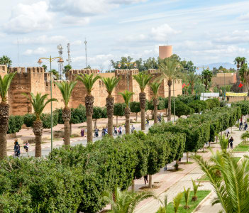 Avenue Moulay Ismail in Taroudant, Morocco