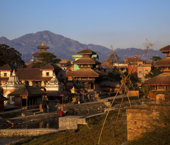 Morning view of temples in Panauti, Nepal