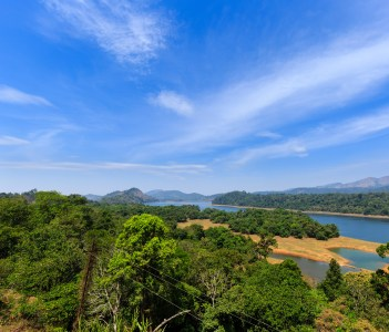 A beautiful view of aliyar river on the way from Valparai to Pollachi