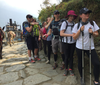 Jon group on the Poon Hill Trek