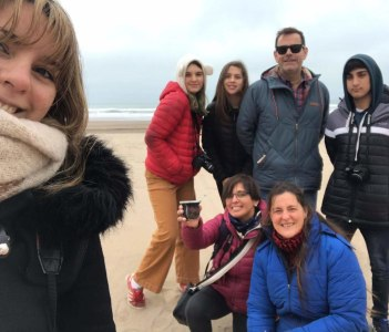 Mar del Plata beach on winter