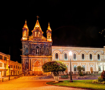 One of the many churches in Ibarra, the north of Ecuador