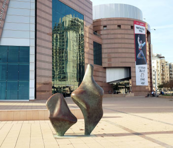 Abstract Sculpture in front of the Municipal Theater, Beersheva, Israel