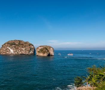 Los Arcos islands  South of  Puerto Vallarta Mexico