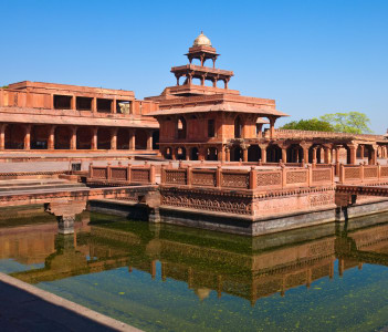 Early morning view of UNESCO World Heritage site Fatehpur Sikri