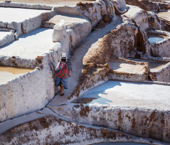 Maras salt ponds located at the Urubamba Peru