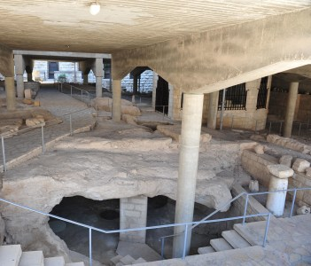 Ancient ruins under the Basilica of the Annunciation in Nazareth