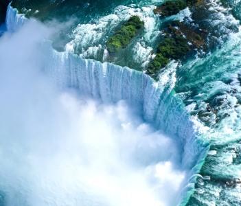 Beautiful Niagara falls aerial view in summer