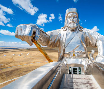 Ulan-Bator, Mongolia. The world's largest statue of Chinghis Khan