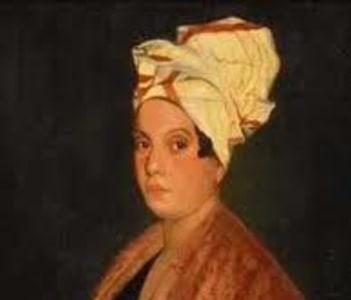 Portrait of a Femme de Couleur Libre (Free Woman Of Color) believed to be Marie Laveau