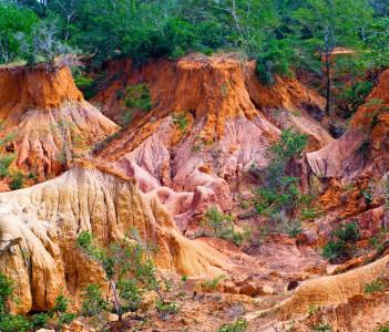 The Hell's Kitchen Marafa Canyon. Malindi region Kenya