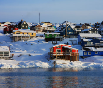 Colourful houses in Ilulissat