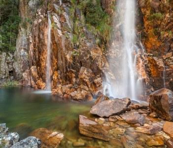Parida Waterfall in Serra da Canastra National Park Brazil