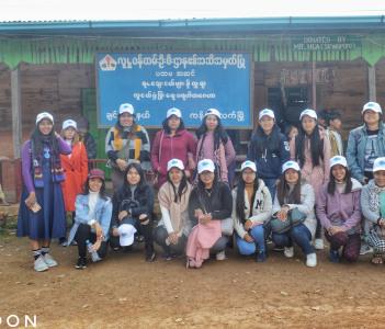 Donation at an Orphanage