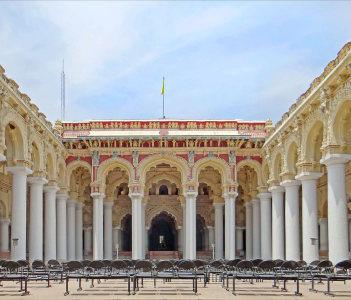 La cour centrale du palais de Thirumalai Nayak
