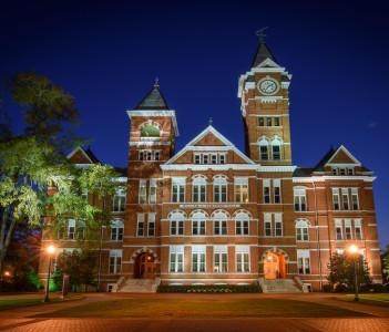 Samford Hall on the campus of Auburn University in Auburn Alabama in USA