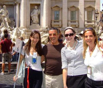 At Trevi Fountain with Colleagues sharing a large Group
