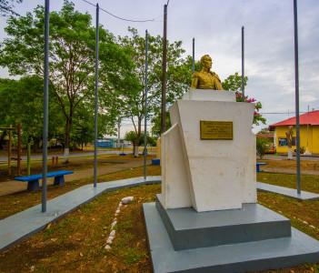 Simon Bolivar statue in David City West Panama