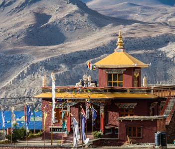 A monastery in Muktinath, Annapurna Circuit, Nepal