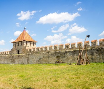 Old walls of Tighina Fortress in Moldova