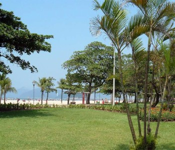 Panoramic view of Santos.