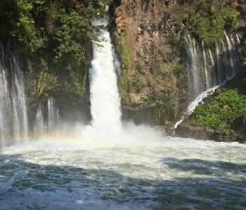 Tzararacua waterfall at Uruapan in Mexico
