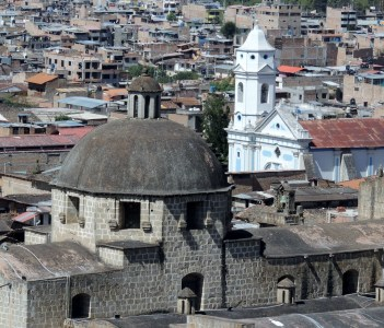 Two churches in Cajamarca