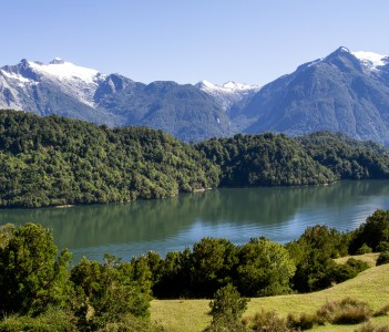 The inside passage Of The Chilean Fjords in Puerto Chacabuco Chile