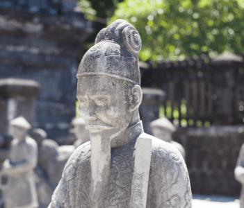 The Royal Court-yard at Khai Dinh Royal Tomb