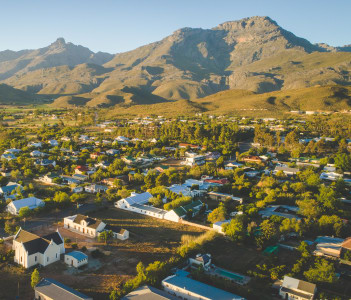 Small town of Ladysmith in the Western Cape of South Africa