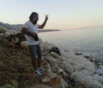 salty formation at dead sea jordan