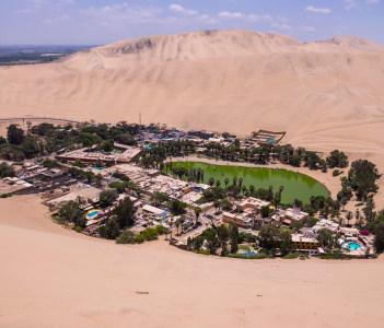 Hucachina oasis and sand dunes near Ica, Peru