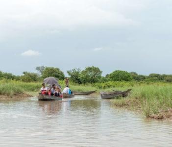 Passenger Transport Boats on a Lake at Silhat, Bangladesh