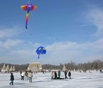 Lake Harriet Winter Kite Festival