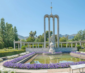 The Huguenot monument in Franschoek South Africa which commemorates the arrival of the French Huguenots in the 17th century.
