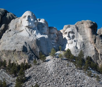 Mount Rushmore Memorial Monument in Black Hills of South Dakota