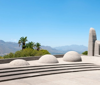 Monument in Paarl in the Western Cape Province of South Africa commemorating the Afrikaans language