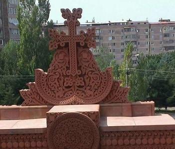Khatchkar at the Surb Hovhannes Church, Abovyan