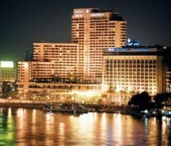 INTERCONTENINTAL SEMRMIS HOTEL - CAIRO . WITH THE MAGICAL NILE RIVER VIEW .