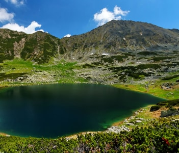 Alpine lake in National Park Retezat Romania