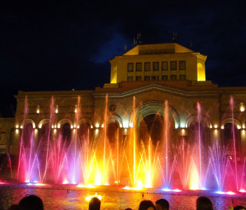 Republic Square and Singing fountains
