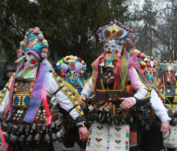 Masquerade festival Kukerlandia in Yambol Bulgaria