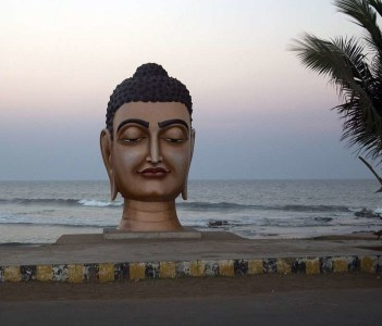 Buddha's head on Bheemuni Patnam