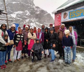 Group tour at Gulmarg