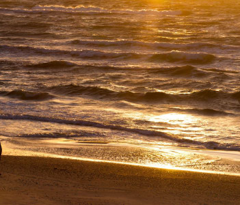 Sunset, Curonian Spit and the Baltic Sea