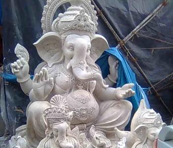 Ganesh Idols getting ready for grand festival