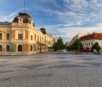 Museum of Nitra region in the central square of the town.