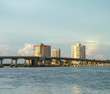 Big Carlos Pass Bridge connecting Fort Myers Beach to Bonita Springs in USA